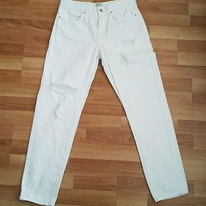 Destressed White jeans